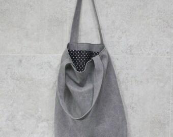 Tote bag light gray-S, Gray tote bag canvas, canvas tote bag, gray tote bag, everyday bag,eco bag, canvas bag, cotton bag, book bag