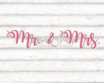Mr. and Mrs. SVG - Digital Download - Cut file for Cricut
