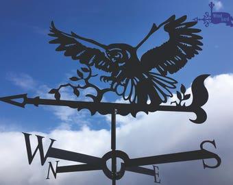 OWL Metal Plasmacut Wind Direction Roof Decor