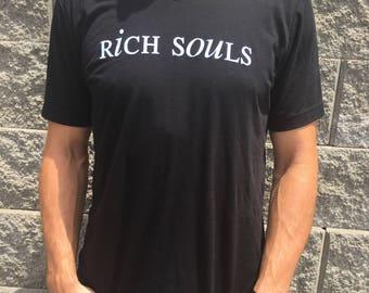 Rich Souls Black V Neck