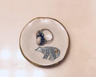 Zuni Bear Ring Dish
