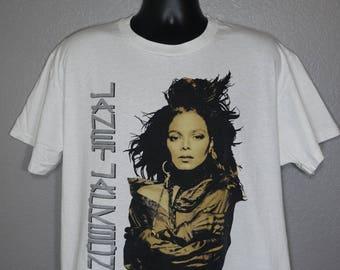 1990 RARE Janet Jackson - '90 Rhythm Nation World Tour Concert Vintage T-Shirt