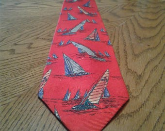 VINTAGE Handmade Nautical Theemed By Ralph Lauren For POLO NECKTIE