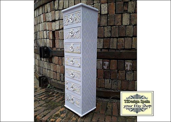 Chest of drawers, Chest of drawers Etsy, Chest of drawers tall, Chest of drawers painted, Chest of drawers Shabby, Chest of drawers vintage