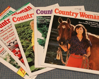 5 - Country Woman Magazines ~ Back Issues ~ Decorating ~ Crafts ~ Home Cooking Recipes ~ Gardening ~ Country Life & Family ~ Collectible