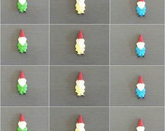 12 x Edible Fondant Gnome cupcake toppers,  Gnomes, Gnome cake topper, Gnome decorations