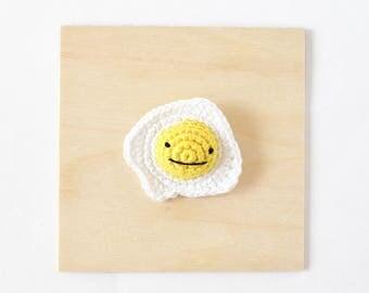 Egg Crochet Brooch   Handmade Crochet Pin, Handmade Brooch, Crochet Accessory, Pin Collector, Yarn Pin, Yarn Brooch, Egg Brooch, Egg Pin