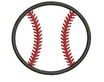 6 sizes - Baseball Applique Design, Baseball Ball Embroidery Design, Sport Applique Design, Instant Download, Machine Embroidery Baseball