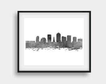Indianapolis Print, Indianapolis Skyline, Indianapolis Indiana, Indianapolis Art, Skyline Art, Office Art, Wall Art, Indianapolis Decor