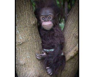 Hand Made Realistic Baby Chimpanzee