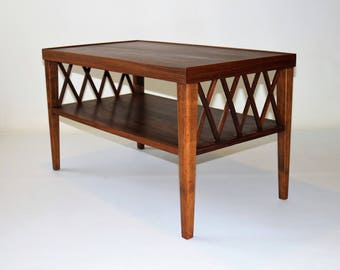 Classic vintage walnut coffee table