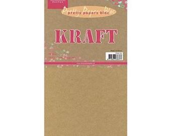 Block of 16 paper KRAFT 13.2 x 27 cm MARIANNE DESIGN