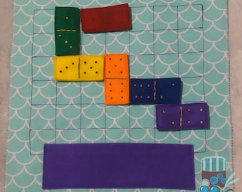 Busy book domino page toddler felt book quiet book