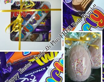 Easter Chocolate Gift Box Plus FREE Chocolate bath bomb!! Price excludes p+p