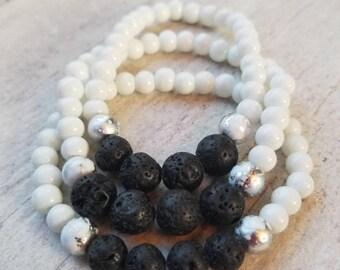 Aromatherapy Bracelet, Womens Bracelet, Oil Diffuser Bracelet, Essential Oil Bracelet, Stretch Bracelet, Lava Stone Bracelet, Diffuser