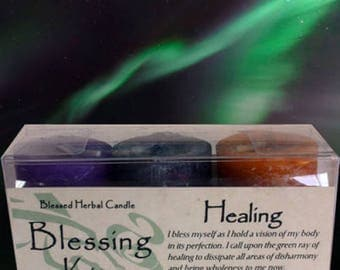 Blessed Herbal Candle Blessing Kits Healing Healing Protection Problem Solving