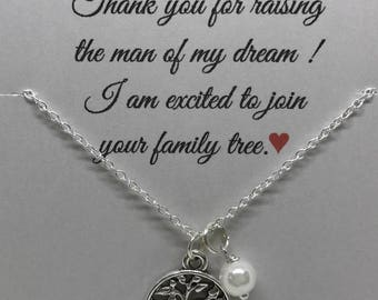 Mother of the Groom gift from bride, Mother of Groom necklace, wedding jewelry, mother of the groom presents, mother of groom from bride