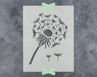 Dandelion Stencil - Reusable DIY Craft Stencils of a Dandelion Flower