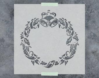 Christmas Wreath Stencil - Laser Cut Stencils on Mylar of Christmas Wreath Design