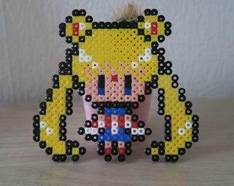Sailor Moon in hama beads