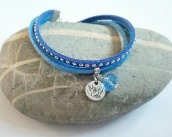 Bracelet Blue Suede ღ
