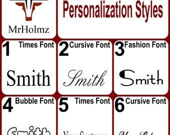 Personalization Styles & Gift Box