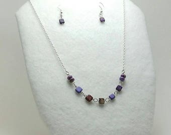 Purple Passion Necklace and Earrings Set