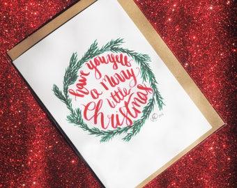 Merry Little Wreath Card