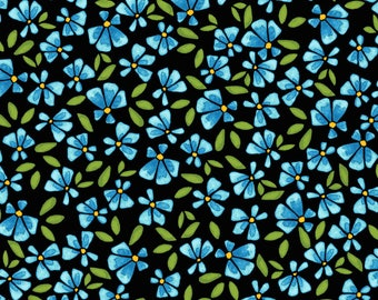 5 Yard Cut - Maywood Studio - Wild by Nature Lobelia Blue - Floral