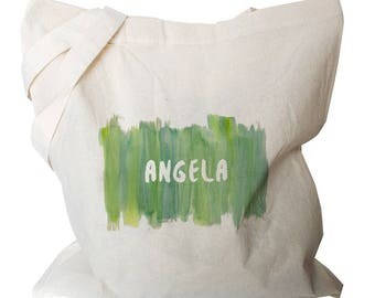 Personalised Tote Bag - Watercolour Tote Bag - Canvas Tote Bags - Cute Personalized Gifts