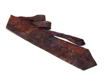 Vintage Necktie, Angelo Litrico 90's Necktie Vintage Tie, Retro Necktie, Abstract Necktie, Textured Necktie, 90's