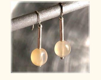 Carnelian Earrings//Semi Precious Stone Earrings//Gemstone Drop Earrings //Orange Carnelian Earrings//Drop Earrings withFrench Ear Wires