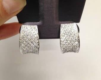 Vintage Style earrings, Cluster Earrings, Vintage Cluster Earrings, Sterling Silver and Rhodium Finish Cluster Earrings