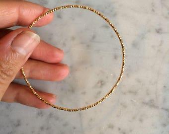 Bracelet en fil d'argent diamanté