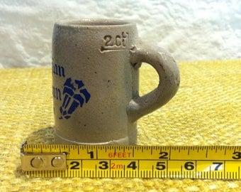 Vintage beer Stein beer mug beer jar Doll House miniature