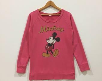 Rare !!! Mickey mouse big logo sweatshirt