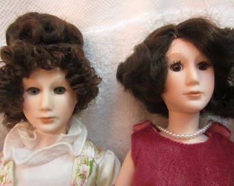 2 dolls Madison & Coolidge First Ladies Smithsonian Institute Suzanne Gibson