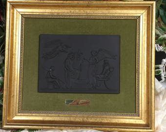 Lord Wedgewood Collection- Basalt Plaque, The Apotheosis of Homer