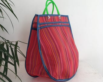XL tote bag - striped red