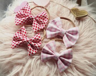 Valentine's Day handmade bows