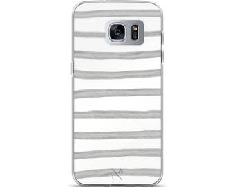 Grey Stripes Samsung Galaxy S7, Galaxy S7 Edge, Galaxy S8, Galaxy S8+ Phone Case