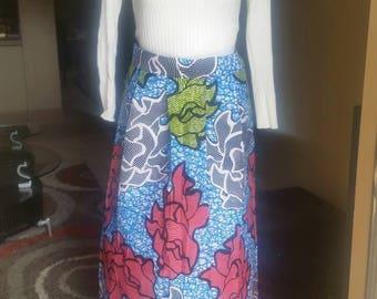 Ankara Skirt African Skirt African Maxi Skirt with Pockets