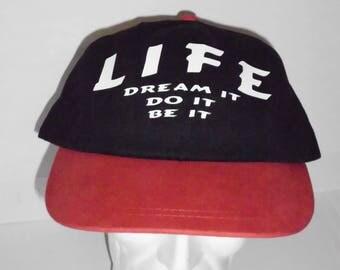 Life Dream It Do It Be It Custom NovelT-hat Live Out Loud Red and Black Hat Cap