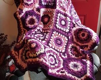 Granny square-Granny Octagon Afghan