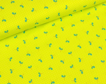 Cotton Jersey Wildflower Medov leaves turquoise on Kiwi (23.90 EUR / meter)