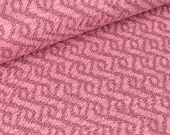 Gina pink dusky pink knitted fabric (17,20 EUR / meter)