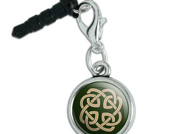 Celtic Knot Love Eternity Mobile Cell Phone Headphone Jack Anti-Dust Charm fits iPhone iPod Galaxy