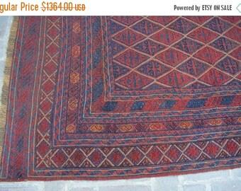 SALE 45% OFF 12 x 9'4 FT Tribal Afghan wool Handmade Mushwani area square rug