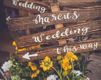 Rustic Wedding Directional Signs