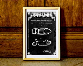 Harley Side Car Patent – Patent Print, Wall Decor, Motorcycle Decor, Harley Davidson Art, Harley Patent, Harley Bike, Motorcycle Sidecar